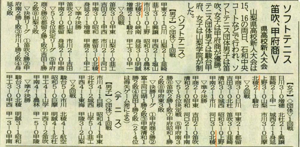 山日161018ソフトテニス (県高校新人大会)