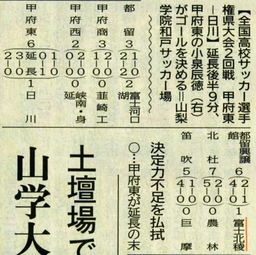 山日161018サッカー (全国高校サッカー県大会)